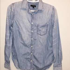 J. Crew Always Chambray Shirt Button Up Size 2